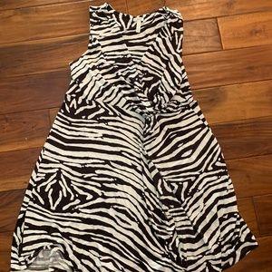 Soma Size XL Black/White Wrap Dress